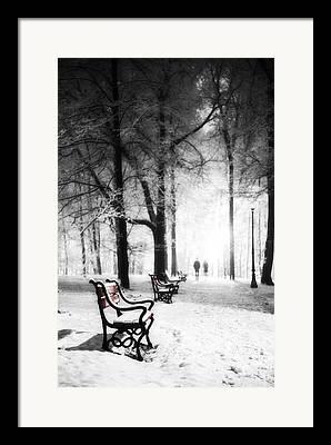 Snow Scene Digital Art Framed Prints