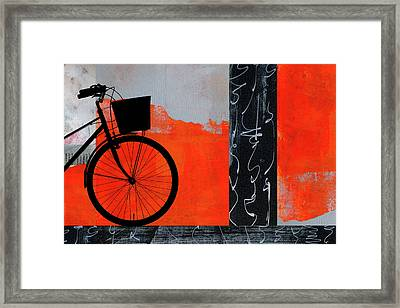 Red Bicycle Art Framed Print
