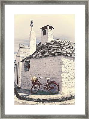 Red Bicycle Framed Print by Joana Kruse