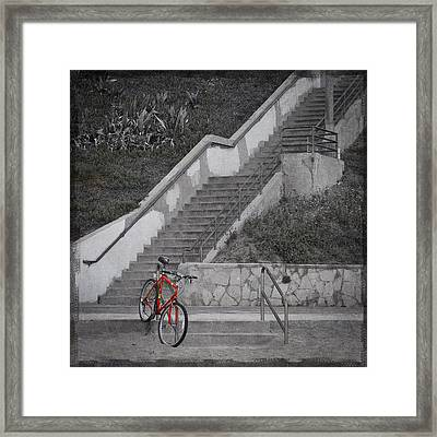 Red Bicycle Framed Print by Kevin Bergen