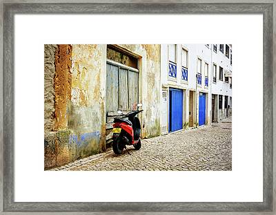 Framed Print featuring the photograph Red Bike by Marion McCristall