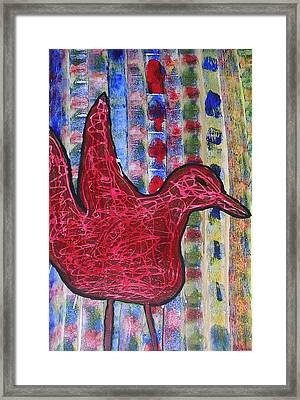 Red Bird 3 Framed Print by Russell Simmons