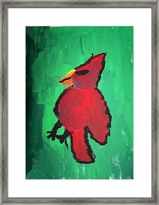 Red Bird Framed Print by Ed Shaw