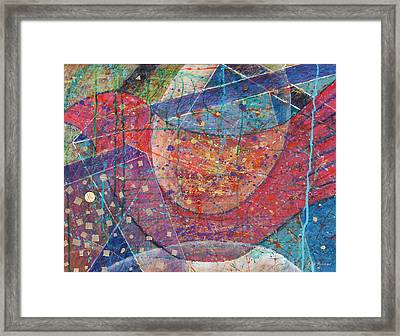 Red Bird Framed Print by Fred Thomas