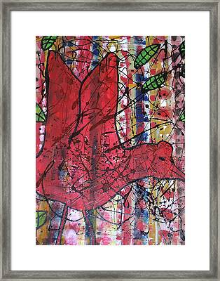 Red Bird I Framed Print by Russell Simmons