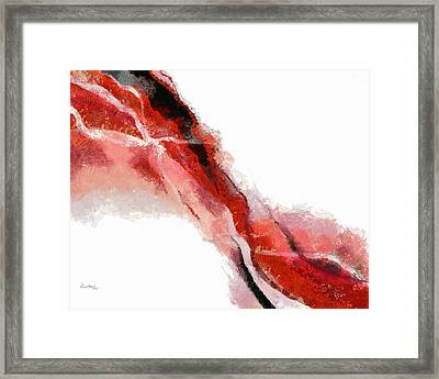 Red Black Abstract Framed Print by Russ Harris