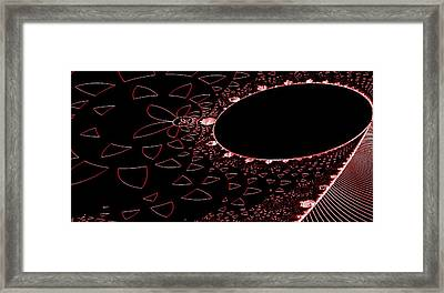 Red Black And Beauty Framed Print by Thomas Smith