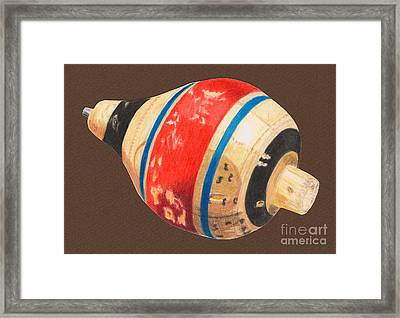 Red Black And Blue Top Framed Print