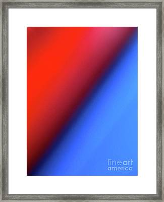 Framed Print featuring the photograph Red Blue by CML Brown