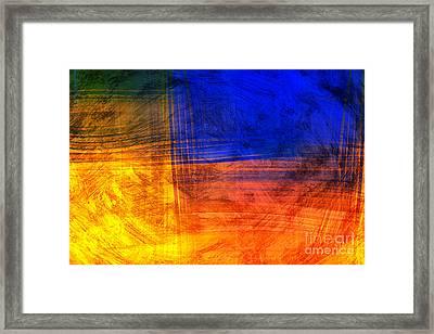 Red Blue Scratch  Framed Print