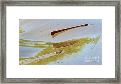 Red Board Over The Dam Framed Print