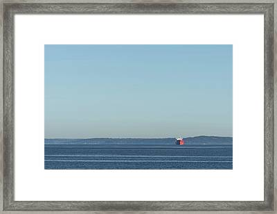Red Boat 1 Framed Print