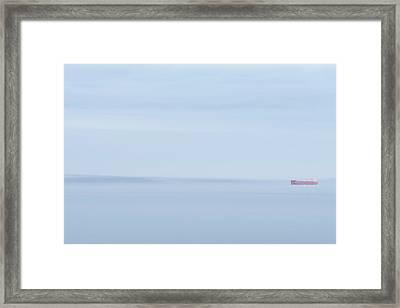 Red Boat 2 Framed Print
