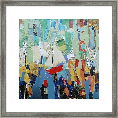 Red Boat Framed Print by Deanna White