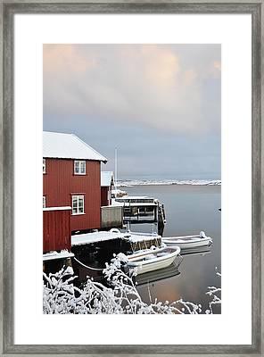 Boathouses Framed Print