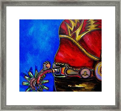 Red Boot Framed Print by Patti Schermerhorn