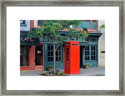 Red Box Framed Print by Frozen in Time Fine Art Photography