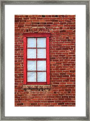 Framed Print featuring the photograph Red Brick And Window by James Eddy