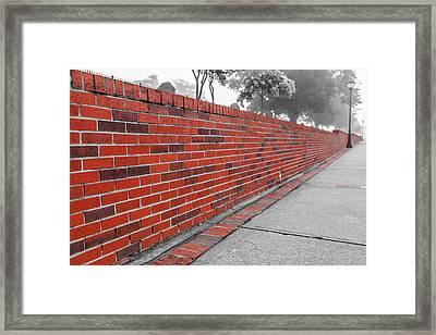 Red Brick Framed Print
