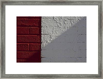Red Brick White Brick Framed Print by Robert Ullmann