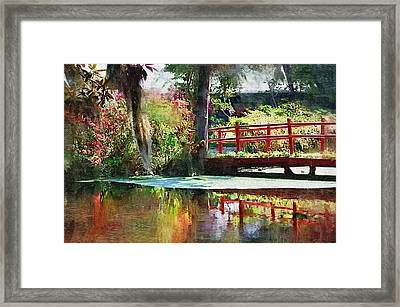 Framed Print featuring the photograph Red Bridge by Donna Bentley