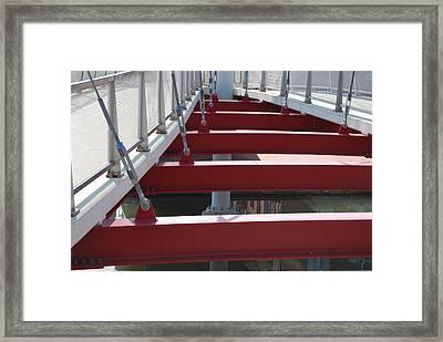 Red Bridge Framed Print by Jennifer Lauren