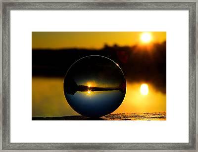 Red Bridge Sunrise Framed Print