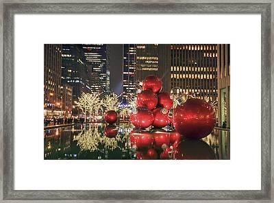Red Bubbles Framed Print by Evelina Kremsdorf