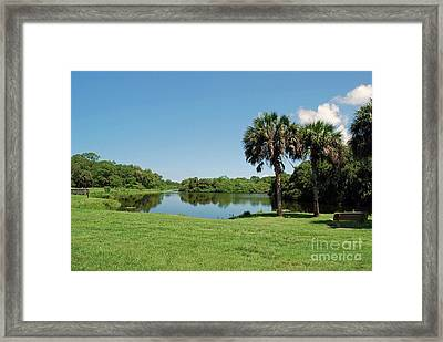 Framed Print featuring the photograph Red Bug Slough by Gary Wonning