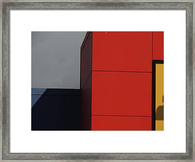 Red Building Abstract 1 Framed Print