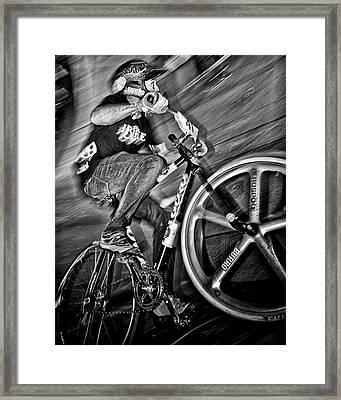 Red Bull Mini Drome Race Day Toronto Canada Framed Print by Brian Carson