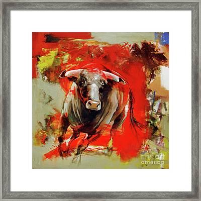 Red Bulls Framed Print