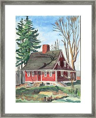 Red Bungalow 2 Framed Print by Jeri Borst