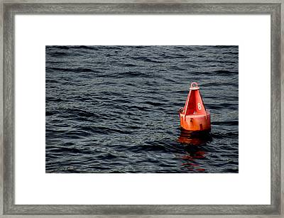 Red Buoy Marked With Number Eight Framed Print