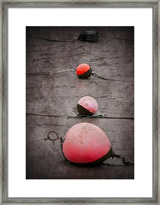 Red Buoys  Framed Print by Svetlana Sewell