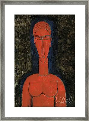 Red Bust, Caryatid, 1913 Framed Print