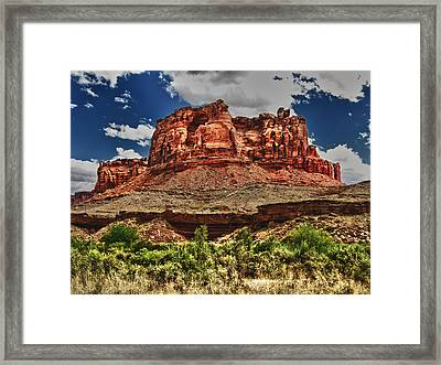 Red Butte Framed Print by Gary Baird