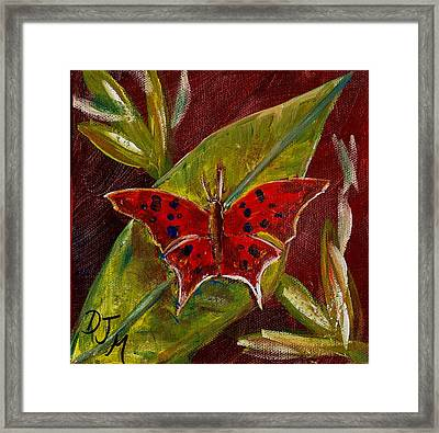 Red Butterfly Framed Print by Dalila Jasmin