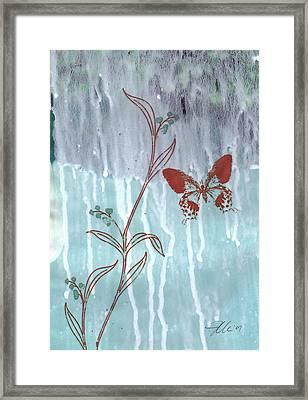 Red Butterfly Framed Print by Jennifer Bonset