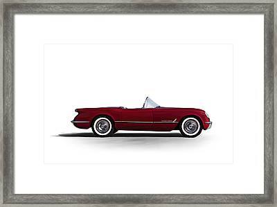 Red C1 Convertible Framed Print by Douglas Pittman