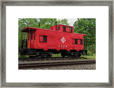 Red Caboose C224 New Jersey Framed Print by Terry DeLuco