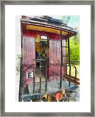 Red Caboose  Framed Print