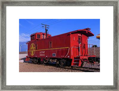 Red Caboose  Framed Print by Garry Gay