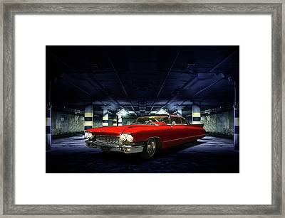 Red Caddie Framed Print by Steven Agius