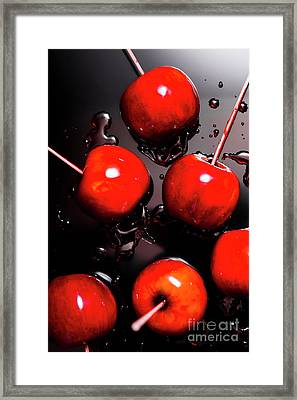 Red Candy Apples Or Apple Taffy Framed Print by Jorgo Photography - Wall Art Gallery