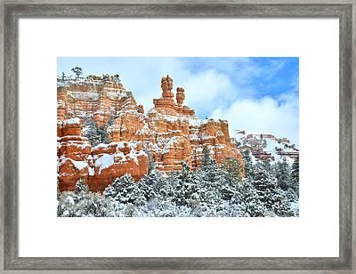 Red Canyon Hoodoos Framed Print