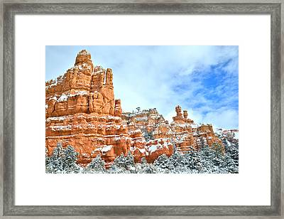Red Canyon Scenic Drive Framed Print