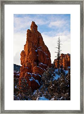 Red Canyon Sentinel Framed Print by James Marvin Phelps
