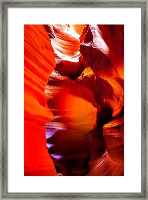 Red Canyon Walls Framed Print