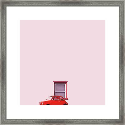 Red Car Framed Print